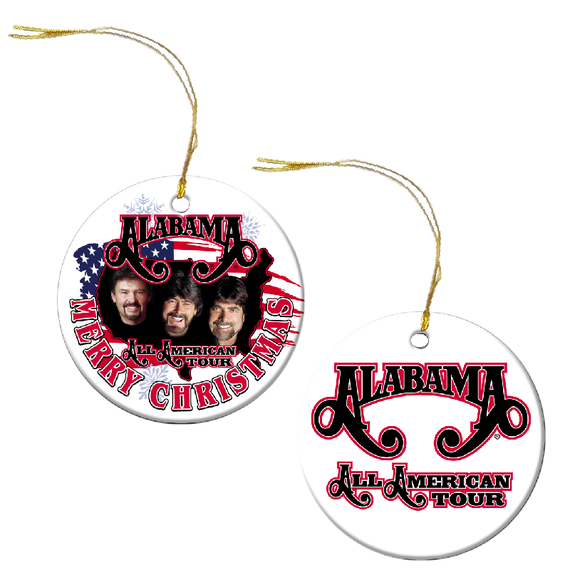 Alabama All American Tour Christmas Ornament