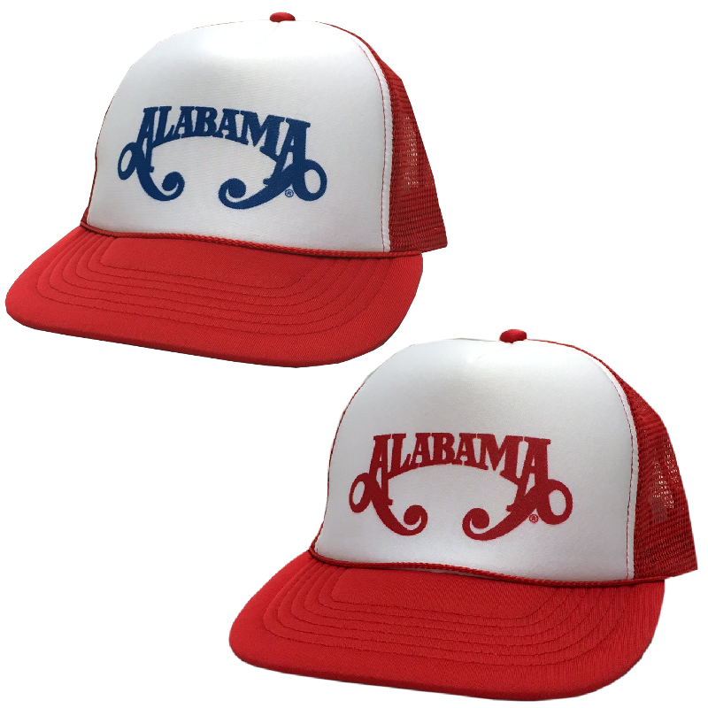 Alabama White and Red Trucker Hat