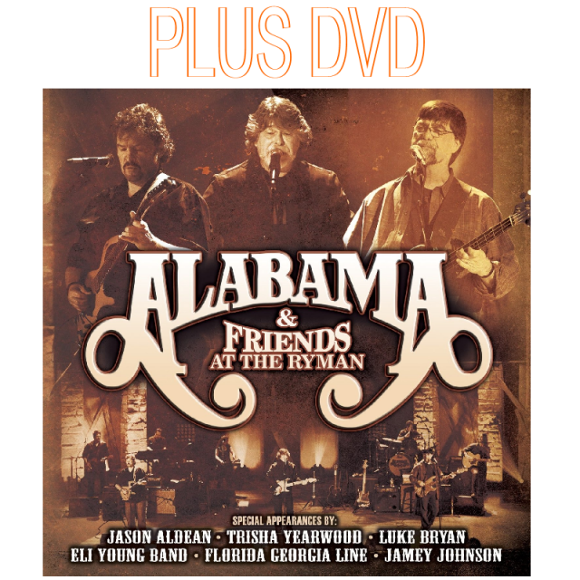 Alabama & Friends at the Ryman 2 Disc Cd Set PLUS DVD