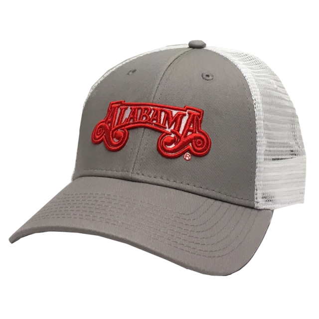 Alabama Grey and White Ballcap