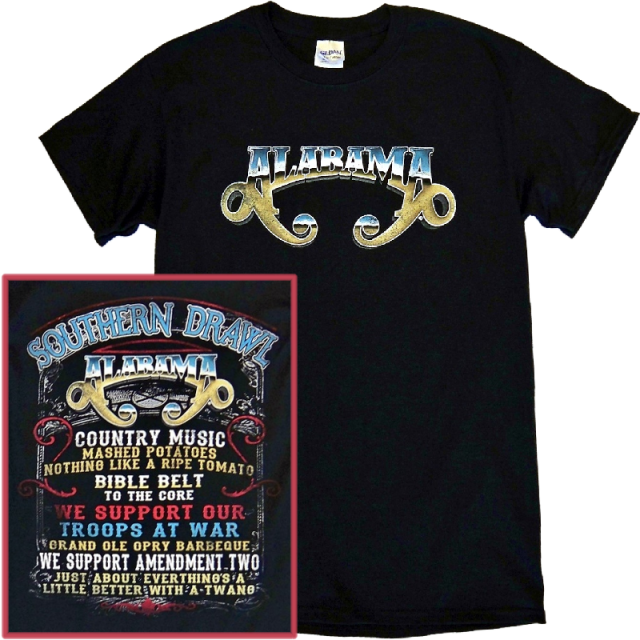 Alabama Black Tee- Southern Drawl Lyrics
