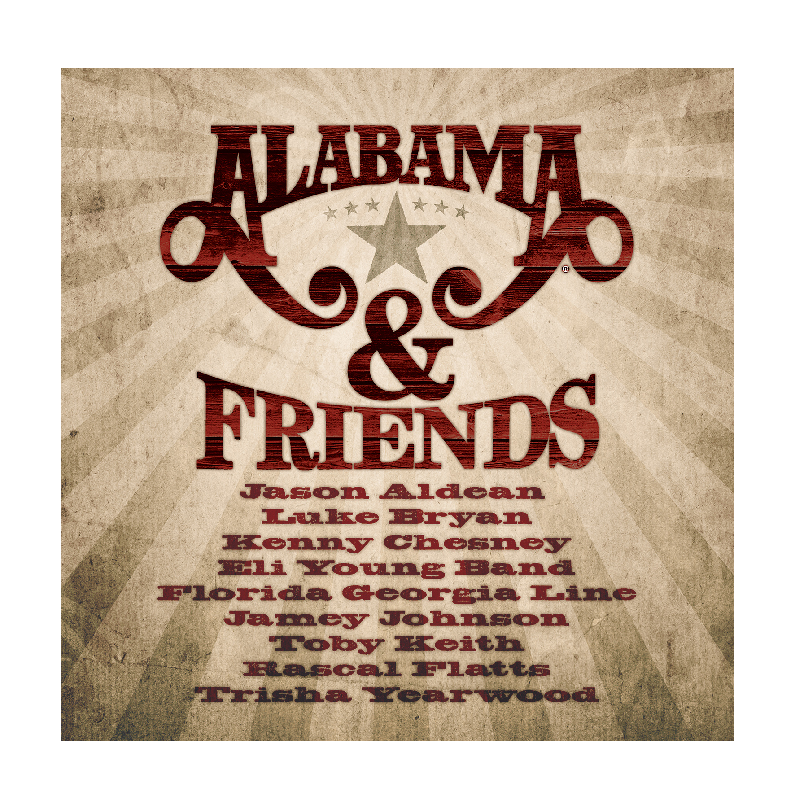 Alabama CD- Alabama and Friends