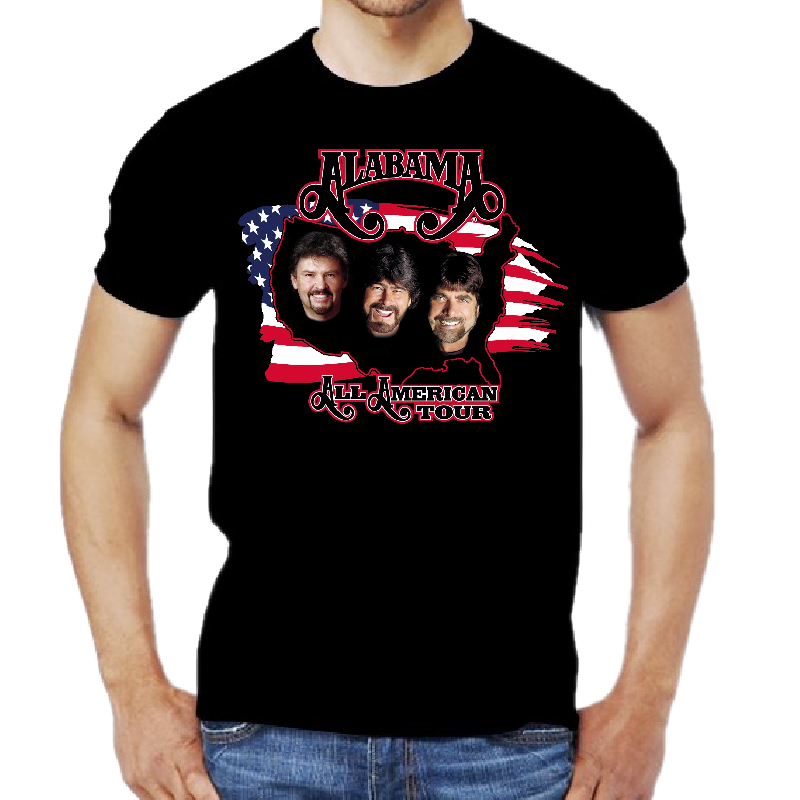 Alabama All American Tour Black Tee