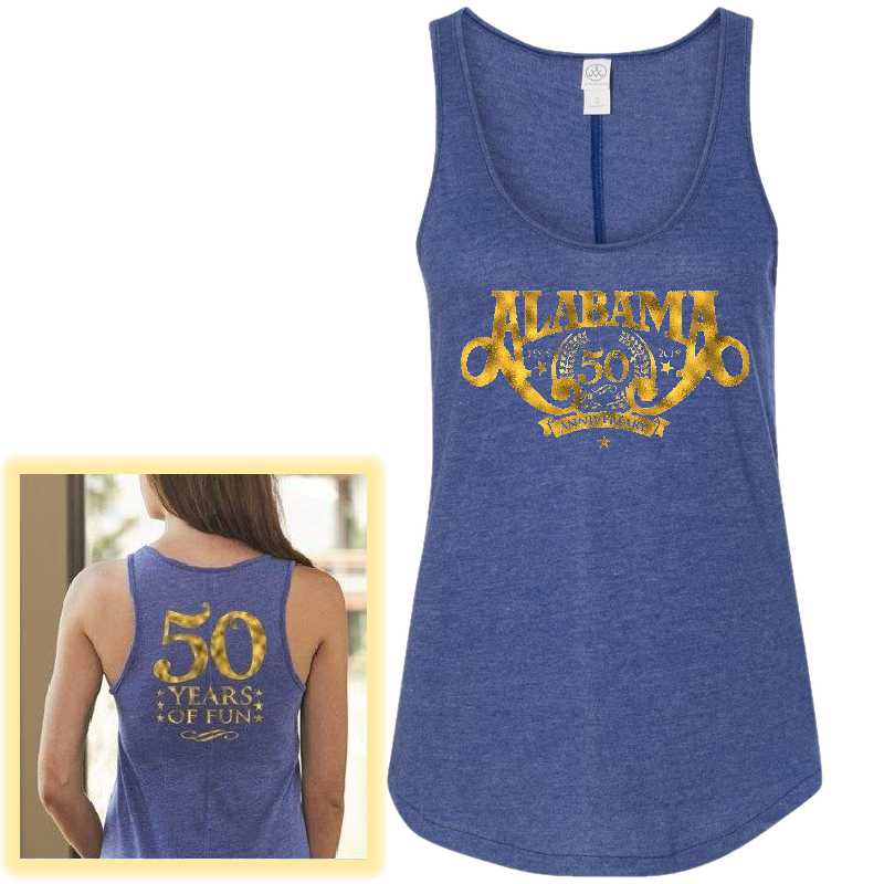Alabama 50th Anniversary Ladies Vintage Royal Tank