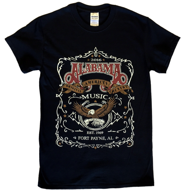 Alabama Original American Country Music Black Tee