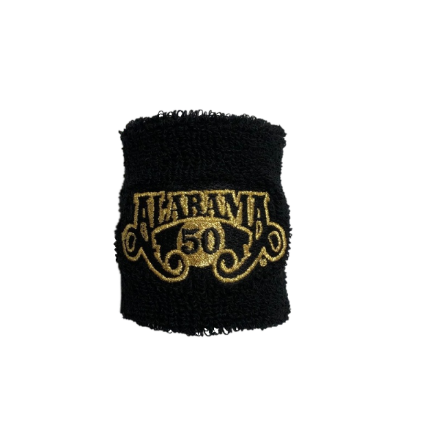 Alabama 50th Anniversary Black Sweatband