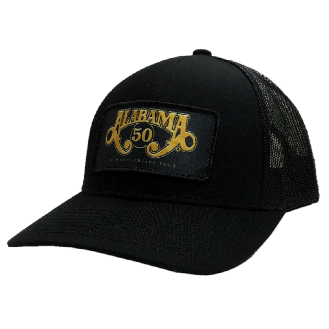 Alabama 50th Anniversary Black Ballcap