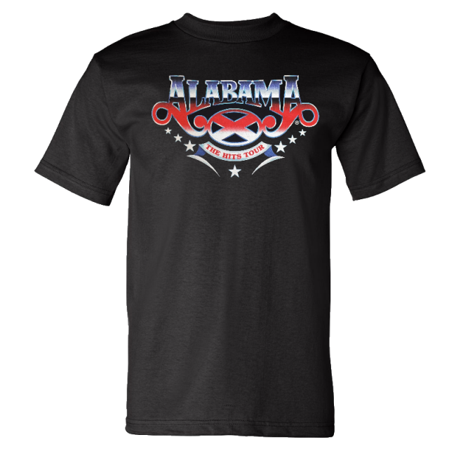 Alabama Black Tee- The Hits Tour 2018