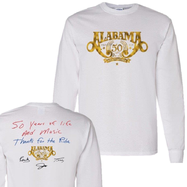 Alabama 50th Anniversary Long Sleeve White Tee