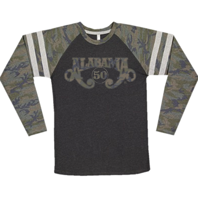 Alabama Long Sleeve Smoke and Camo Gameday Tee